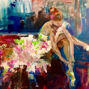 Balletshoe_20x20 by Karen Ahuja Studio