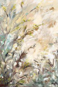 Creamy Garden_24x36 by Karen Ahuja Studio