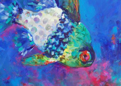 Destinfish_20x20 by Karen Ahuja Studio