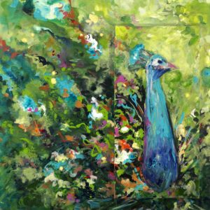 Peacock_30x30 by Karen Ahuja Studio
