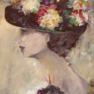 Lady With A Flower Hat by Karen Ahuja Studio