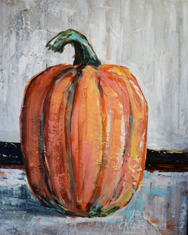 Pumpkin Stripes by Karen Ahuja Studio