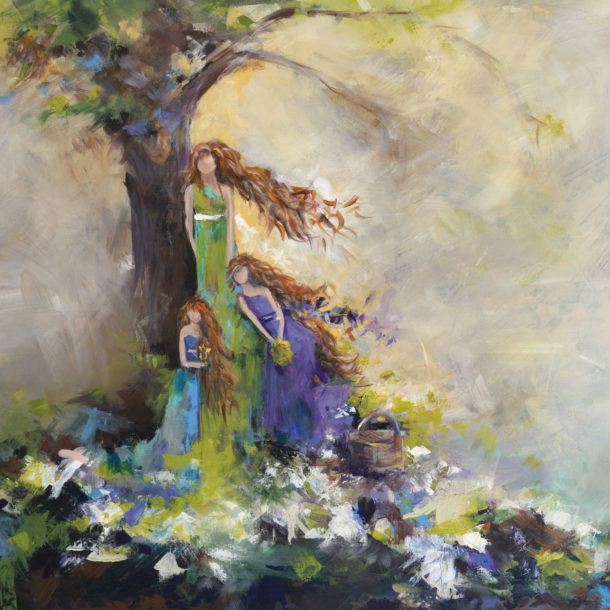 Mother Daughter Picnic by Karen Ahuja Studio